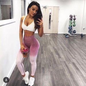 Gymshark ombré seamless pink leggings Small